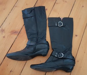 Air Step Heel Boots black