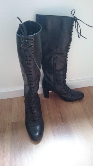 Buffalo London Lace-up Boots black leather