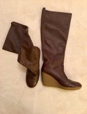 Flip*flop Botas con plataforma marrón Cuero