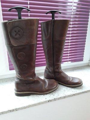 Kickers Jackboots brown leather