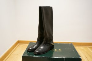 Ralph Lauren Riding Boots black-yellow