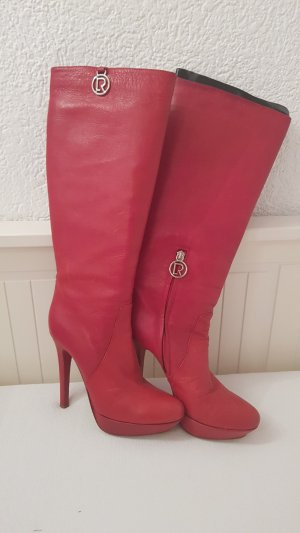 Vero Cuoio High Heel Boots red