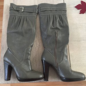 Zara Heel Boots dark grey leather