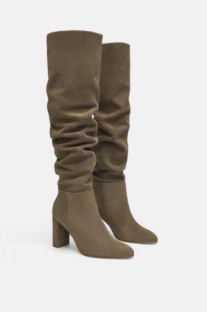 Zara Heel Boots light brown-grey brown