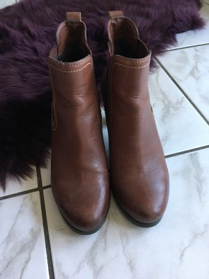 5th Avenue Slip-on Booties cognac-coloured leather
