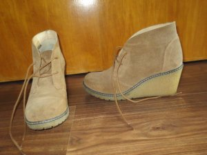 Wedge Booties multicolored leather