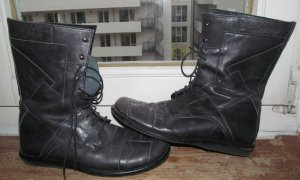 Snipe Lace-up Booties anthracite leather