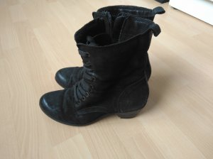 Charles Vögele Lace-up Booties black leather
