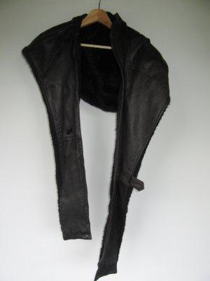 Vintage Écharpe à capuche noir