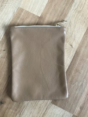 American Apparel Pochette gold-colored-camel leather