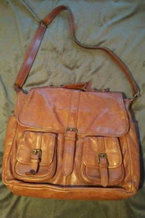 H&M Crossbody bag cognac-coloured