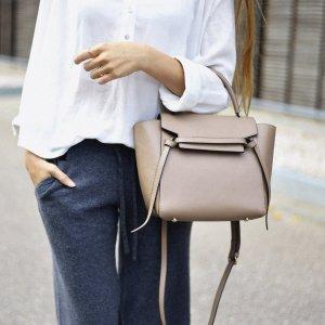 Ledertasche Beige Belt Bag