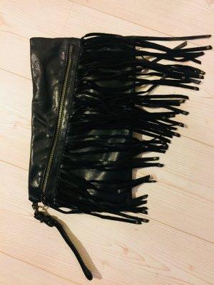 Ledertasche Clutch Zara schwarz