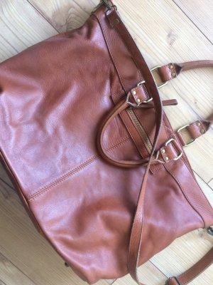 Carry Bag cognac-coloured leather