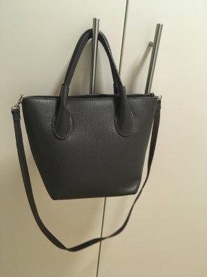 Ledertasche Handtasche Büro dunkelgrau Leder