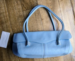 Handbag azure leather