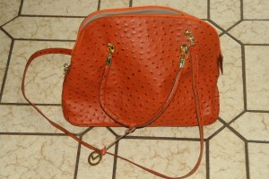 Ledertasche in Orange von L. Credi