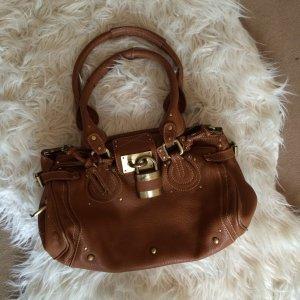 Handbag cognac-coloured-gold-colored