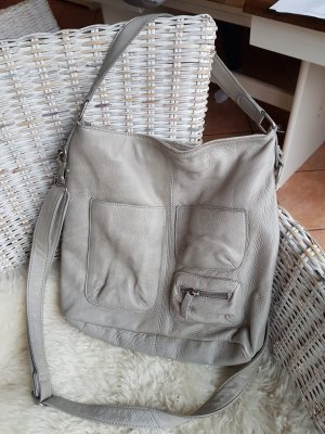 Ledertasche in Taupe
