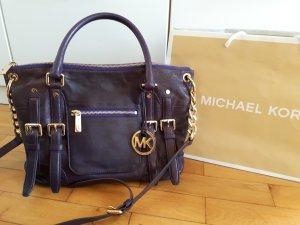 Michael Kors Borsa con manico viola scuro Pelle