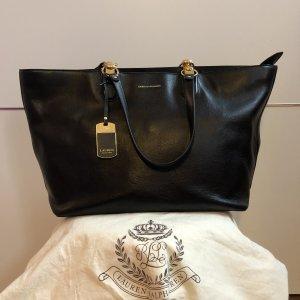 Polo Ralph Lauren Shopper black-gold-colored leather