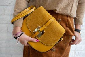 Borse in Pelle Italy Crossbody bag dark yellow