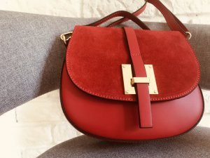 Borse in Pelle Italy Crossbody bag red leather