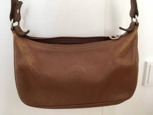Longchamp Crossbody bag brown-silver-colored