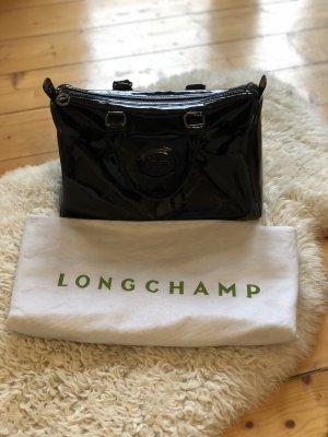 Ledertasche von Longchamp in schwarz
