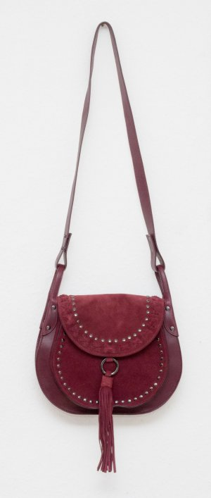 Riani Crossbody bag bordeaux-carmine leather