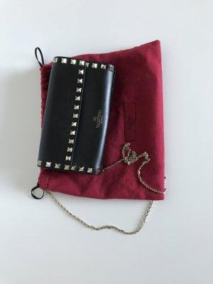 C. Valentino Bolsa de hombro negro Cuero