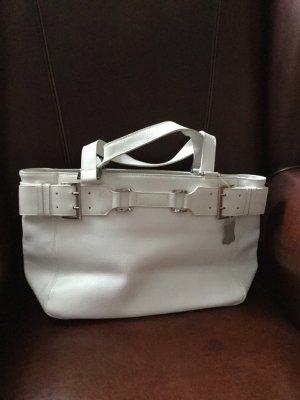 Alba Moda Handbag white leather