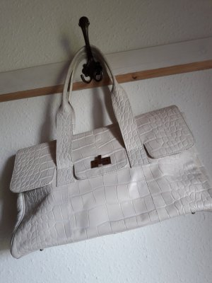 Bodenschatz Carry Bag white-oatmeal leather