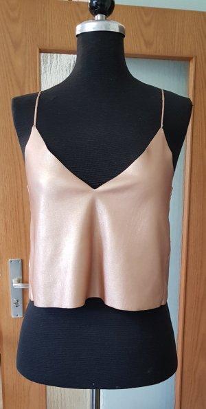 Zara Haut à fines bretelles rose chair