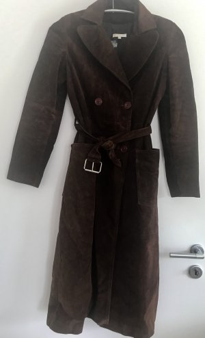 Ledertrenchcoat aus Velourleder