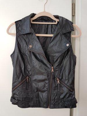 Colours of the World Leren vest zwart