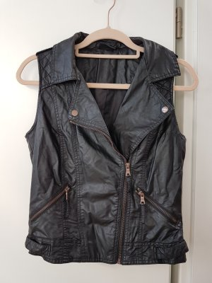 Colours of the World Leather Vest black