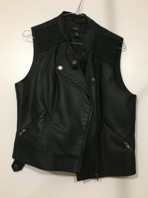 Mango Biker Jacket black imitation leather