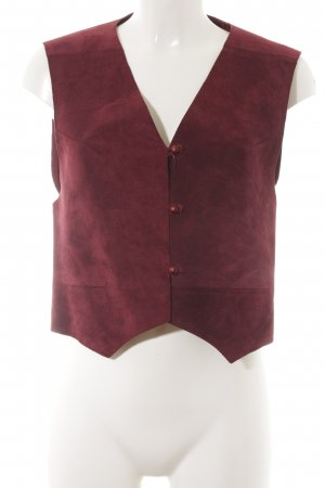 Leather Vest blackberry-red casual look