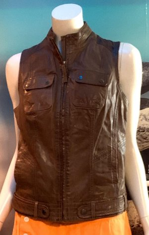 QS by s.Oliver Leather Vest brown