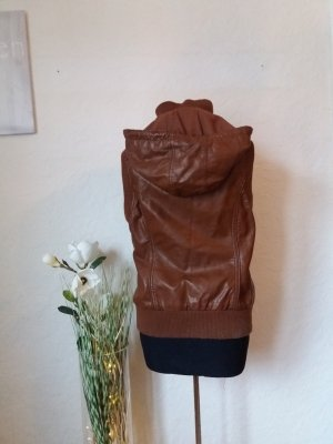 Colours of the World Leather Vest brown