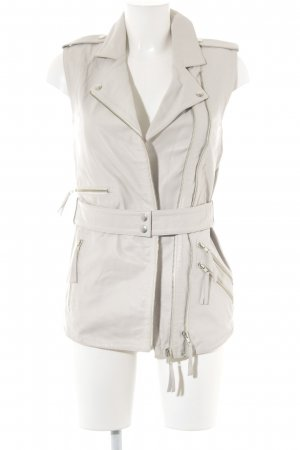 Leather Vest oatmeal '80s style