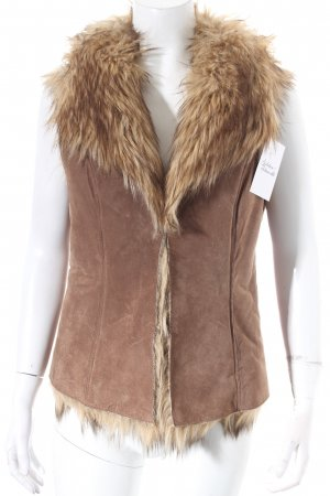 Leather Vest light brown Boho look