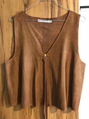 Zara Trafaluc Leather Vest multicolored leather