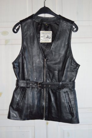 Leather Vest black leather