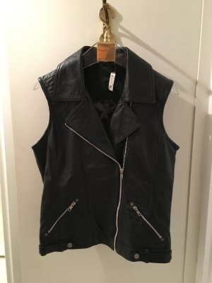 Gipsy Leather Vest black leather