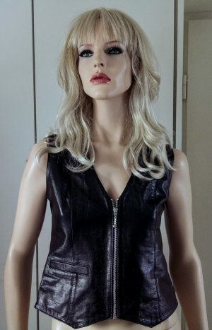 Leather Vest black leather