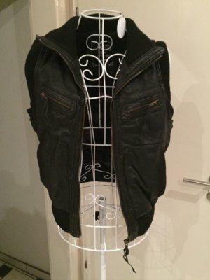 Lederweste von Pepe Jeans - schwarz