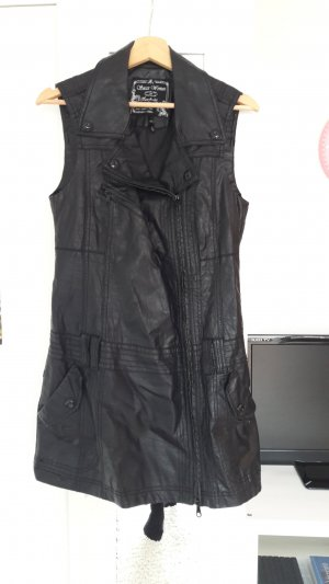 Soccx Leather Vest black