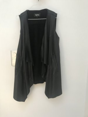 Tigha Leather Vest black